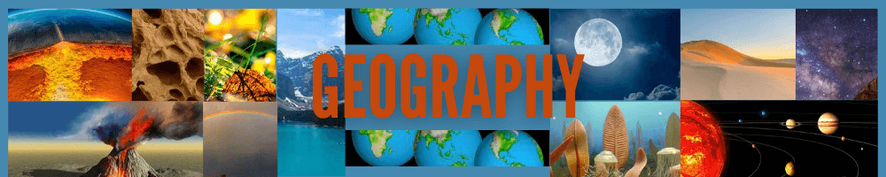 geography of the world banner